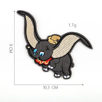 Parche bordado de dibujos animados gato y ratón
