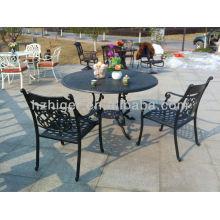 Fabrik direkt im Freien Patiomöbel Aluminiumguss Garten Schmiedeeisen Tische und Stühle