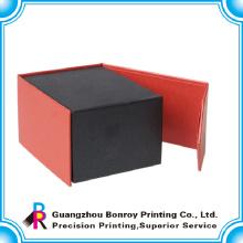 Caja de regalo de cierre magnético negro de alta calidad con su propio logotipo