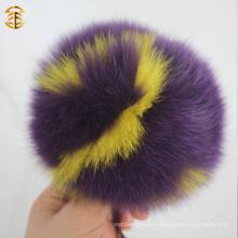 2016 Multicolor Fur Pom Poms Charms Lettre Logo Porte-clés Porte-clés