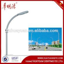 6m, poste de iluminação de rua de aço galvanizado de 12m