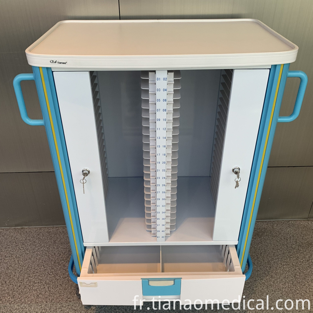 Hospital Aliuminum Medical Record Trolley