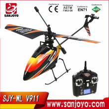 2.4G 4CH Single Blade wl v911 helicopter Gyro RC MINI Outdoor r/c copter With LCD and 2 Batteries v911 helicopter