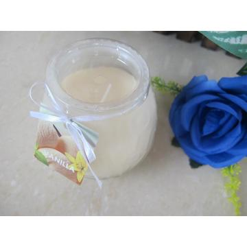 Venta al por mayor Frosted White Glass Candle