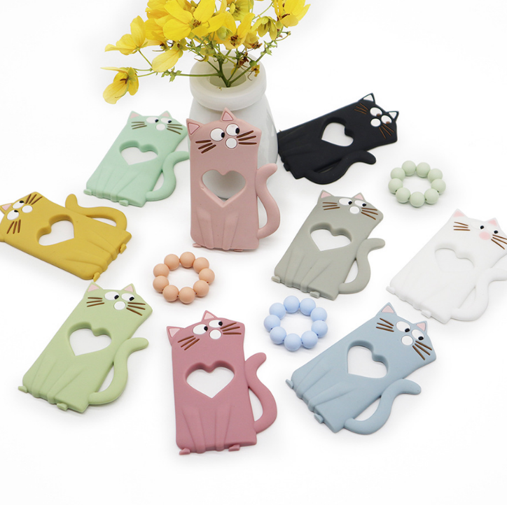 Silicone Cat Baby Teething Toys Teether