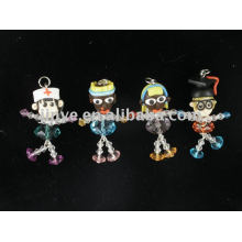 fashion crystal bead porcelain toy figure