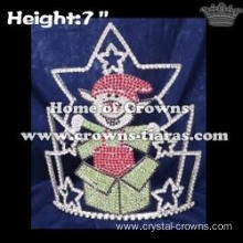 Lucky Happy Elf Christmas Pageant Crowns