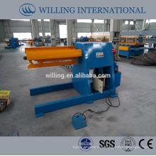 5 tons hydraulic steel coil unwinder