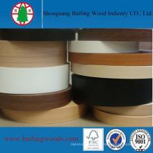 Bandas de borde de PVC de color de madera decorativas