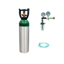 MD serial Small Oxygen Aluminum cylinder with CGA870 and regulator, cylinder aluminium box,supplying system