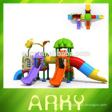 2015 plastic kids slide outdoor playground fairy tale park play structure for sale