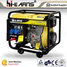 Prix de générateur diesel de soudeuse portable (DG6000EW)