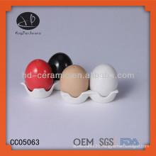 Egg salt shaker with color,good quality egg tray wholesale,salt and pepper shaker,