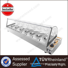 Heavy Duty Multifunction Commercial Soup Bain Marie And Food Warmer For Sale With 9 Pans For Fast Food Restaurants