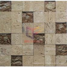 Natural Beige Travertine Mix Crystal Mosaic (CFS1061)