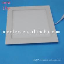 2014 nuevo cuadrado / redondo Aluminio y plástico 4w / 6w / 9w / 12w / 15w / 18w 100-240v 18w llevó las piezas de la luz del panel