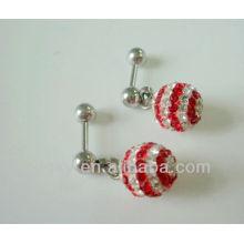AB cristal pendiente de oído piercing pendientes de cartílago de joyería