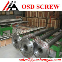 Extrusion machine parts screw barrel for plastic machinery processing