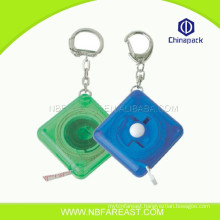 Custom cheap good quality China cute shaped keychain tape measure