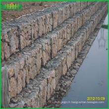 Mur de soutènement en gabions à grille métallique décoratif et bon marché et bon marché