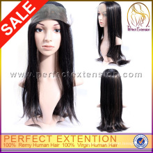 Natural Color With Baby Hair Peruvian Hair Lace Front Wig