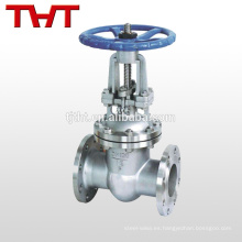 válvula de compuerta de campanas de acero inoxidable 316 para suministro de agua