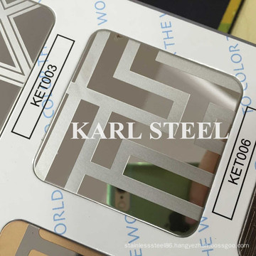 High Quality 201 Stainless Steel Color Ket006 Etched Sheet