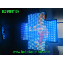 Sinal de Cruz de farmácia de cor cheia LED