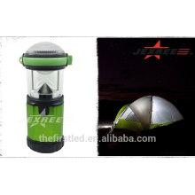 Al aire libre linterna de camping portátil LED de 500 lúmenes de aluminio LED 4X 1.5V AA Camping Light