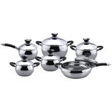Classic apple shape 12pcs cookware set