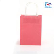 Saco de presente de papel impresso de alta qualidade luxo personalizado OEM com alça PP