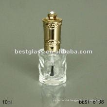 10ml nail polish bottle with gold cap,brush,nail polish