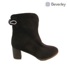 block heels black women winter fur boots