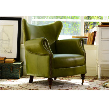 American Classical Living Room Leather Sofa Chair