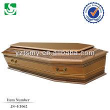 vente directe de style européen pin adulte cercueil en bois fabriqué en Chine