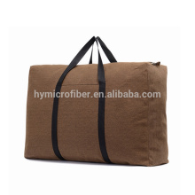 Customized logo cheap travel canvas duffle bag with zipper