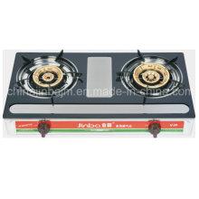 Cuisinière à gaz en acier inoxydable émaillé à 2 brûleurs