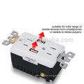 Enchufe USB Enchufe de alta velocidad inteligente Dual USB de alta velocidad Cargador de pared 15A