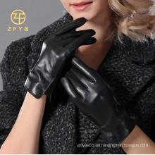2014 muchachas lindas venta caliente artículo fino invierno guantes de cuero