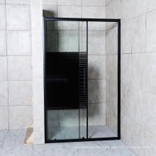 2020 High End Black Aluminium Framed Tempered Glass Shower Enclosure