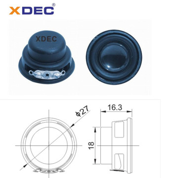 Mini altavoz multimedia de 27mm 4ohm 2watt