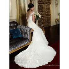 ZM16023 Vintage Scoop Neck Corset Fully Lace Appliqued Open Back Mermaid Sleeveless Wedding Dresses Pure White Bridal Gown