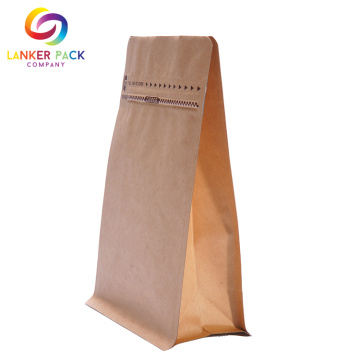 Moisture Proof Heat Seal Kraft Paper Ziplock Bags