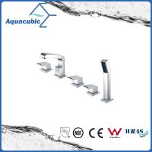 Chromed Triple-Handle 5 Holes Bathtub Faucet with Hand Shower (AF6015-2A)