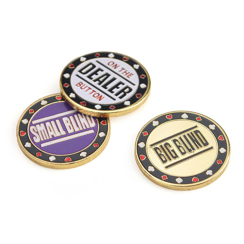 Poker Metal Buttons