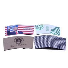 custom printed disposable Eco-friend double wall paper cups coffee sleeve