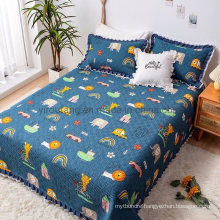 Luxurious Hotel Patchwork Quilt Bedspread King Size Comforter Set All-Season