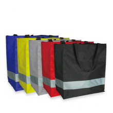 Оксфордская сумка для покупок с хорошо заметными светоотражающими полосками