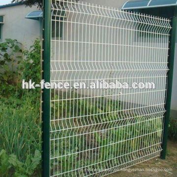 Diseño de alta calidad del panel de la cerca del jardín de la malla de alambre soldado con autógena y polares de la cerca