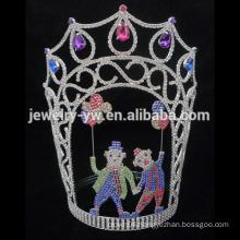 Big Beauty Pageants Rhinestone Tiaras Large Tall Crystal AB Crowns